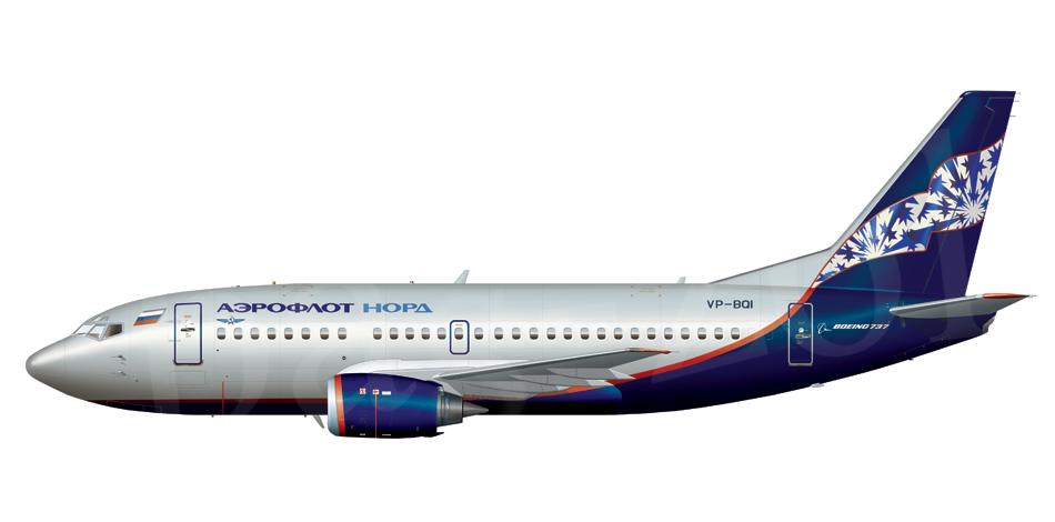 Boeing B737 500 Side View By Basil Zolotov