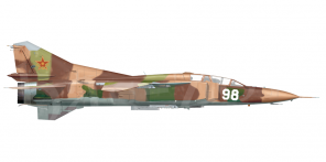 Mikoyan MiG 23UB side views