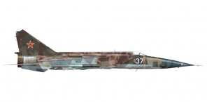 Mikoyan MiG 25 side views