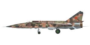 Mikoyan MiG 25RBF side views