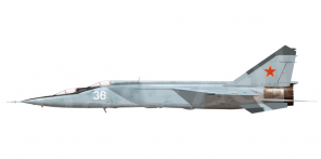 Mikoyan MiG 25RU side views