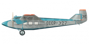 Tupolev PS 9 side views