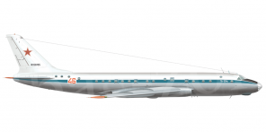 Tupolev Tu 104AK side views