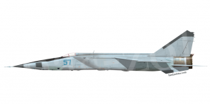 Mikoyan MiG 25RB side views