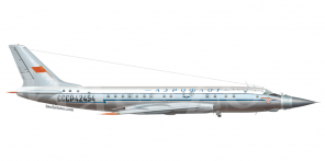 Tupolev Tu 104LL side views