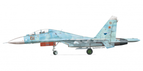Sukhoi Su 27UB side views