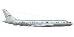 Tupolev Tu 104 side views
