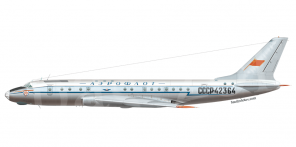 Tupolev Tu 104A side views