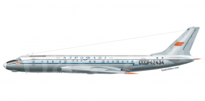 Tupolev Tu 104B side views