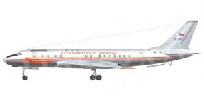 Tupolev Tu 104B side views