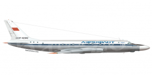 Tupolev Tu 104Sh side views