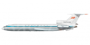 Tupolev Tu 154 side views